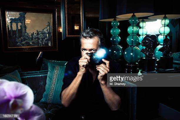 Photographer Mario Testino is photographed for Out Magazine on October 6 2012 in Los Angeles California PUBLISHED IMAGE