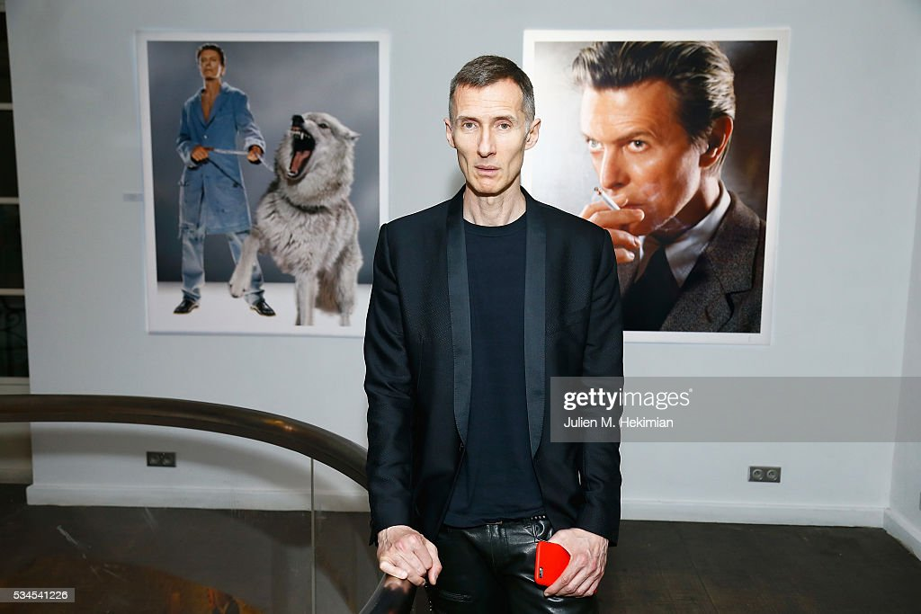 Photographer Markus Klinko attends his exhibition opening at Artcube Galery on May 26, 2016 in Paris, France.