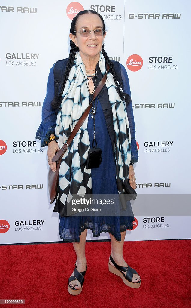 Photographer <a gi-track='captionPersonalityLinkClicked' href=/galleries/search?phrase=Mary+Ellen+Mark&family=editorial&specificpeople=5617373 ng-click='$event.stopPropagation()'>Mary Ellen Mark</a> arrives at the Leica Store Los Angeles grand opening at Leica on June 20, 2013 in Los Angeles, California.