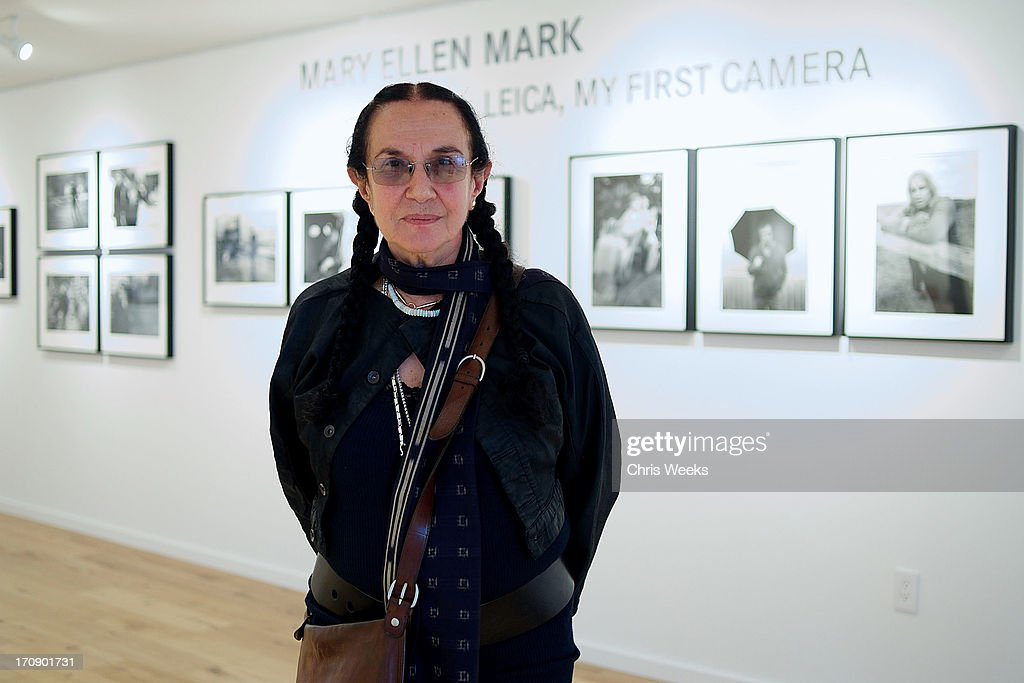 Photographer <a gi-track='captionPersonalityLinkClicked' href=/galleries/search?phrase=Mary+Ellen+Mark&family=editorial&specificpeople=5617373 ng-click='$event.stopPropagation()'>Mary Ellen Mark</a> attends the Leica Store Los Angeles sneak preview at Leica on June 19, 2013 in Los Angeles, California.