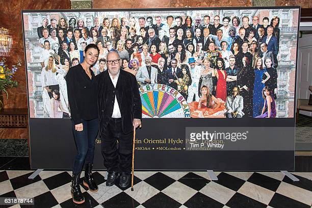 Photographer Mary McCartney and artist Sir Peter Blake pose for a photo as a new artwork 'Our Fans' by Sir Peter Blake is unveiled on January 17 2017...