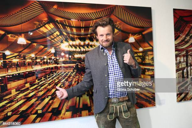 Photographer Michael von Hassel during the 'Michael von Hassel' Exhibition Opening at 'Galerie an der Pinakothek der Moderne' on September 8 2017 in...
