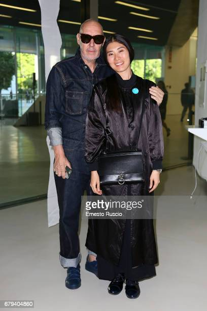 Photographer Michel Comte and Ayako Yoshida attend President Mattarella visits Maxxi Museum at Maxxi Museum on May 5 2017 in Rome Italy