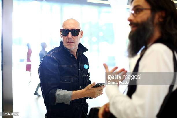 Photographer Michel Comte attends President Mattarella visits Maxxi Museum at Maxxi Museum on May 5 2017 in Rome Italy