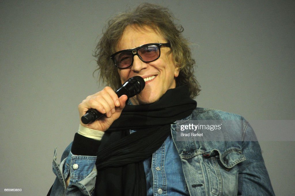 Photographer Mick Rock attends the Apple Store Soho Presents Meet Mick Rock at Apple Store Soho on April 7, 2017 in New York City.