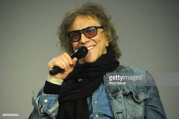 Photographer Mick Rock attends the Apple Store Soho Presents Meet Mick Rock at Apple Store Soho on April 7 2017 in New York City
