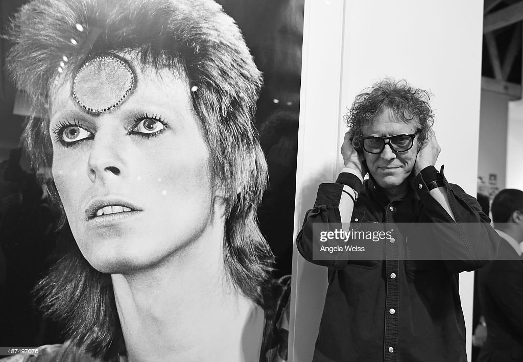 Photographer Mick Rock attends the TASCHEN Gallery opening reception for 'Mick Rock: Shooting For Stardust - The Rise Of David Bowie & Co.' at TASCHEN Gallery on September 9, 2015 in Los Angeles, California.
