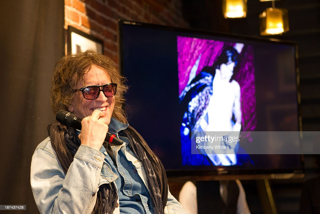Photographer Mick Rock speaks at the launch of the book 'Rock In Fashion' at John Varvatos on November 8, 2013 in San Francisco, California.