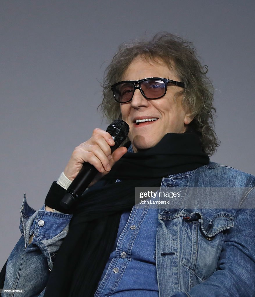 Photographer Mick Rock speaks during Apple Store Soho presents 'Meet Mick Rock' at Apple Store Soho on April 7, 2017 in New York City.