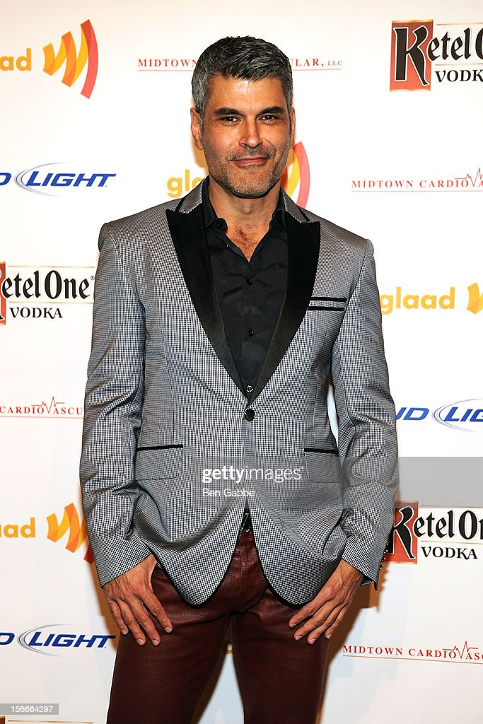 Photographer <a gi-track='captionPersonalityLinkClicked' href=/galleries/search?phrase=Mike+Ruiz&family=editorial&specificpeople=3030315 ng-click='$event.stopPropagation()'>Mike Ruiz</a> attends the 2012 GLAAD Art Auction at Metropolitan Pavilion on November 18, 2012 in New York City.