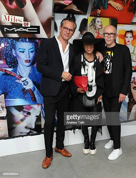 Photographer Miles Aldridge Patti Wilson and James Gager SVP and Creative Director for MAC Cosmetics attend MAC Cosmetics and Miles Aldridge...