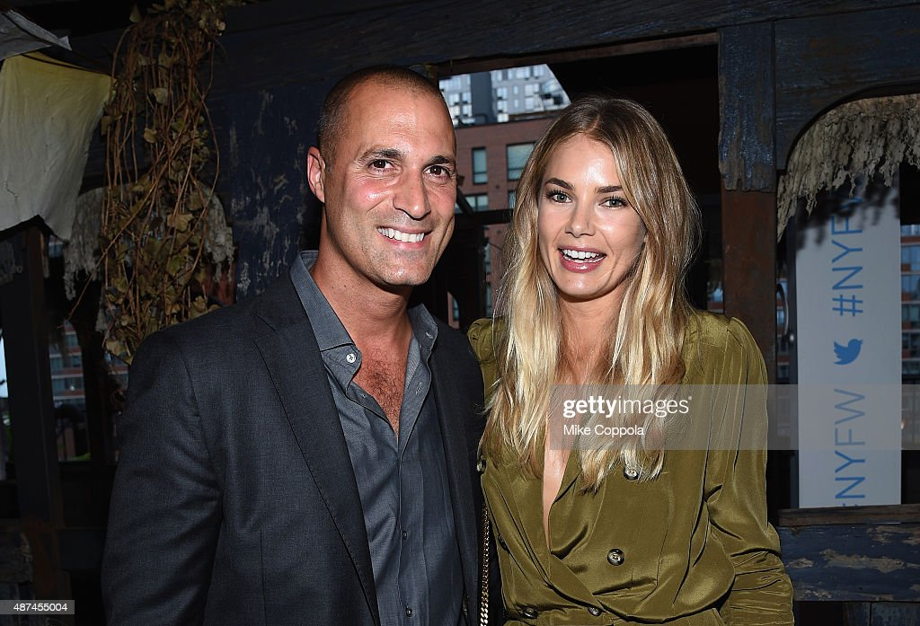 Photographer Nigel Barker and model Tori Praver attend the 'NYFW The Shows' #fashionflock event hosted by Twitter and IMG at The McKittrick Hotel on...