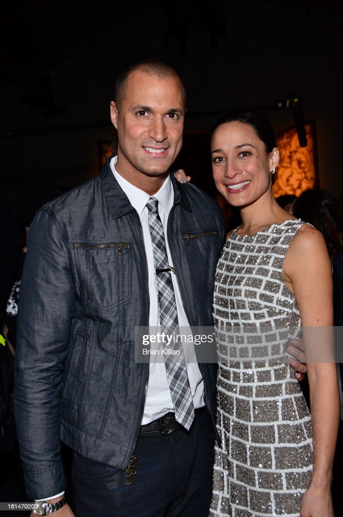 Photographer <a gi-track='captionPersonalityLinkClicked' href=/galleries/search?phrase=Nigel+Barker&family=editorial&specificpeople=691819 ng-click='$event.stopPropagation()'>Nigel Barker</a> and wife Cristen Barker attend Pamella Roland during Fall 2013 Mercedes-Benz Fashion Week at The Studio at Lincoln Center on February 11, 2013 in New York City.