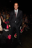 Photographer Nigel Barker attends the Betsey Johnson fashion show during Spring 2016 New York Fashion Week The Shows at The Arc Skylight at Moynihan...
