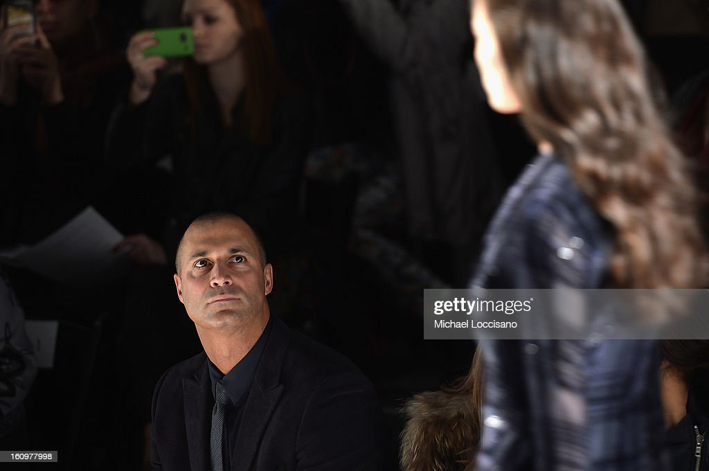 Photographer <a gi-track='captionPersonalityLinkClicked' href=/galleries/search?phrase=Nigel+Barker&family=editorial&specificpeople=691819 ng-click='$event.stopPropagation()'>Nigel Barker</a> attends the Noon By Noor Fall 2013 fashion show during Mercedes-Benz Fashion at The Studio at Lincoln Center on February 8, 2013 in New York City.