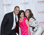 Photographer Nigel Barker Jumpstart President and CEO Naila Bolus and actress Brooke Shields arrive for the Scribbles To Novels 10th Anniversary Gala...
