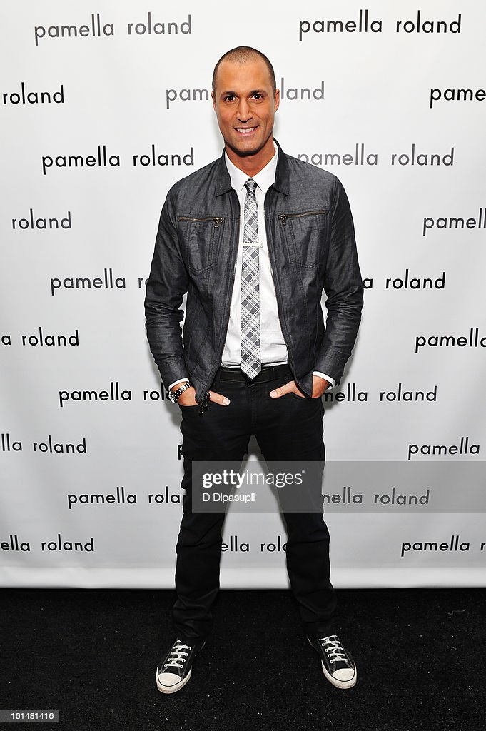 Photographer <a gi-track='captionPersonalityLinkClicked' href=/galleries/search?phrase=Nigel+Barker&family=editorial&specificpeople=691819 ng-click='$event.stopPropagation()'>Nigel Barker</a> poses backstage at the Pamella Roland Fall 2013 fashion show during Mercedes-Benz Fashion Week at at The Studio at Lincoln Center on February 11, 2013 in New York City.