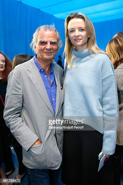 Photographer Patrick Demarchelier and Delphine Arnault attend the Celine show as part of the Paris Fashion Week Womenswear Spring/Summer 2016 on...