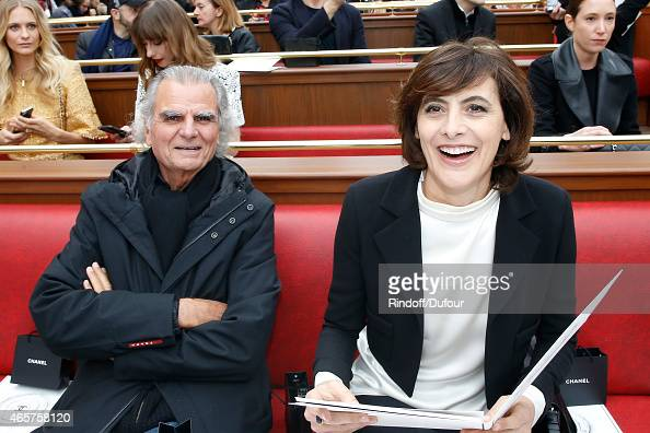 Photographer Patrick Demarchelier and Ines de la Fressange attend the Chanel show as part of the Paris Fashion Week Womenswear Fall/Winter 2015/2016...