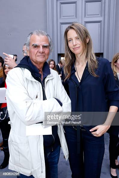 Photographer Patrick Demarchelier and Model Georgina Grenville attend the Chloe show as part of the Paris Fashion Week Womenswear Spring/Summer 2016...