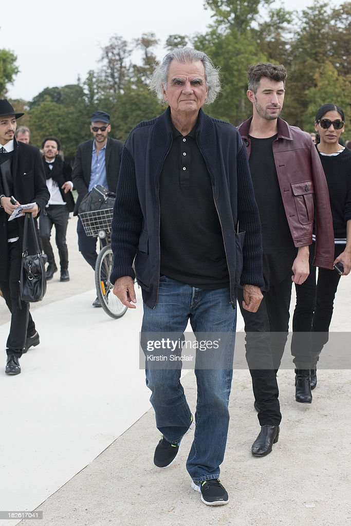 Photographer <a gi-track='captionPersonalityLinkClicked' href=/galleries/search?phrase=Patrick+Demarchelier&family=editorial&specificpeople=2118326 ng-click='$event.stopPropagation()'>Patrick Demarchelier</a> on day 8 of Paris Fashion Week Spring/Summer 2014, Paris October 01, 2013 in Paris, France.