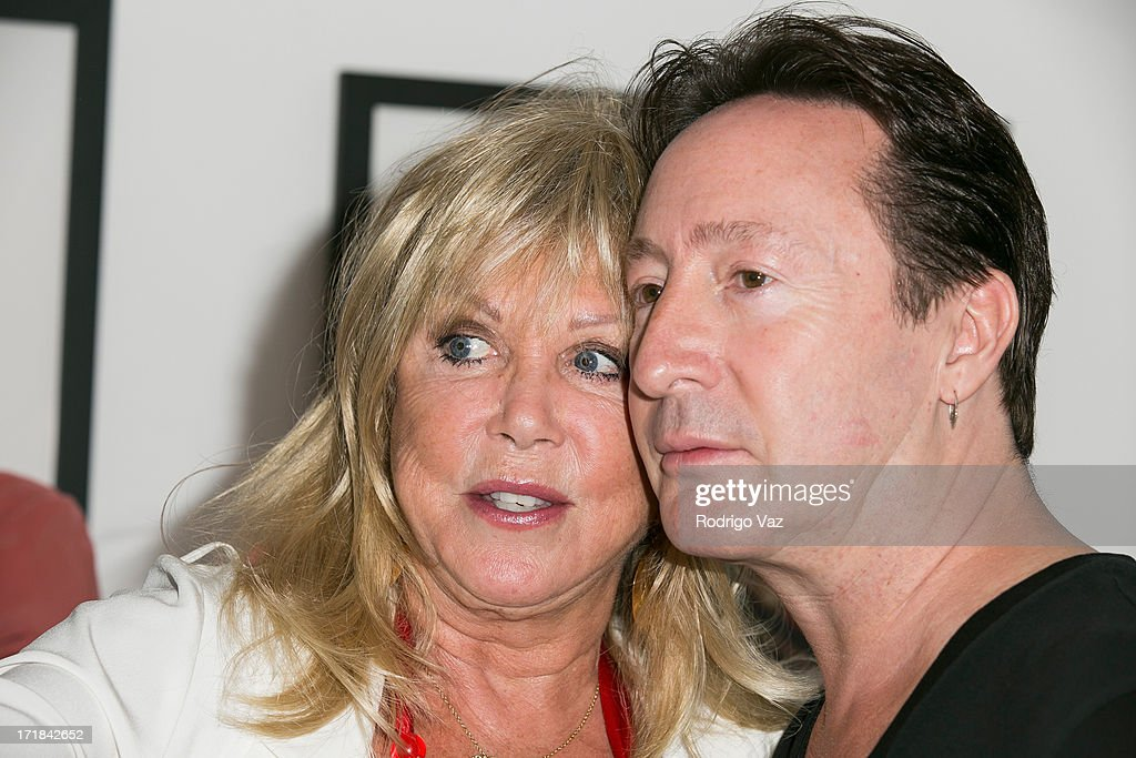 Photographer Pattie Boyd and musician Julian Lennon attend the Pattie Boyd: Newly Discovered Photo Exhibition at Morrison Hotel Gallery on June 28, 2013 in West Hollywood, California.
