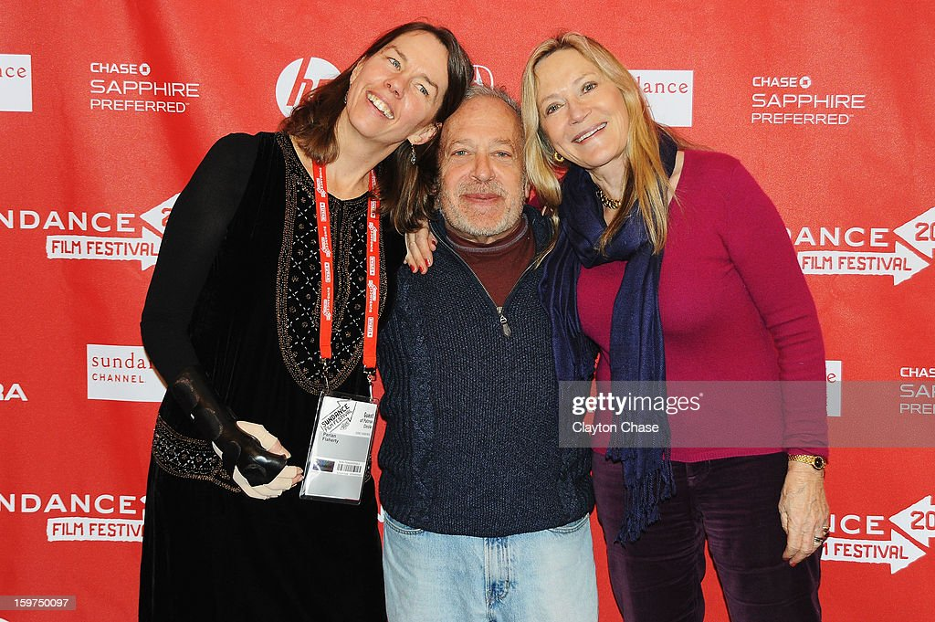 Photographer Perian Flaherty, author Robert Reich and professor Carina Ryan attend the 'Inequality For All' premiere at Prospector Square during the 2013 Sundance Film Festival on January 19, 2013 in Park City, Utah.