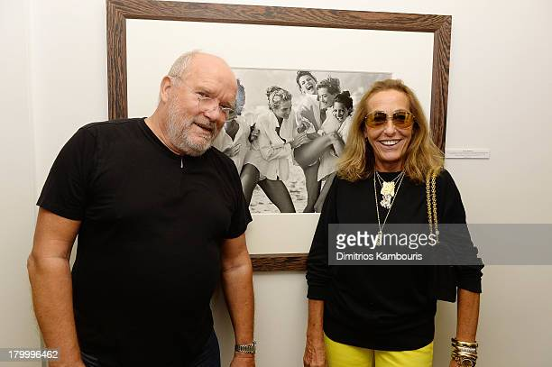 Photographer Peter Lindbergh and fashion editor Carlyne Cerf de Dudzeele attend the Peter Lindbergh Artist reception presented by Vladimir Restoin...