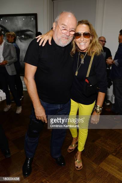 Photographer Peter Lindbergh and fashion editor Carlyne Cerf de Dudzeele attend the Peter Lindbergh exhibition at Vladimir Restion Roitfeld Gallery...