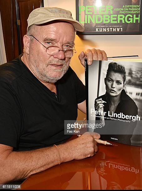 Photographer Peter Lindbergh attends Lindbergh 'A Different Vision on Fashion Photography' Book Signing at Taschen Paris Store as part of the Paris...