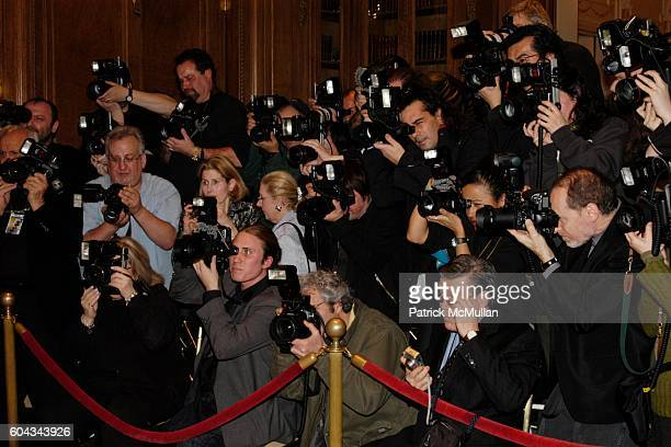 Photographer pit at The Russian National Orchestra's 15th Anniversary Gala at St Regis Roof Ballroom on March 7 2006 in New York City