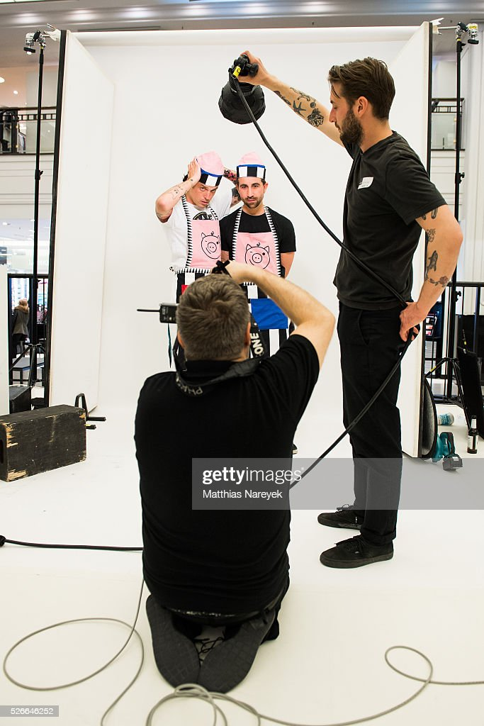 Photographer Rankin works at the Rankin Live x KaDeWe event at KaDeWe on April 30, 2016 in Berlin, Germany.
