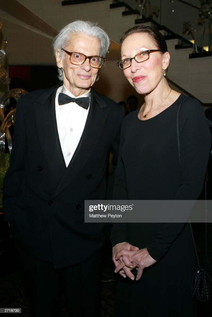 Photographer Richard Avedon and an unidentified companion attend the Americans For The Arts 8th Annual National Arts Awards Gala at the Mandarin...
