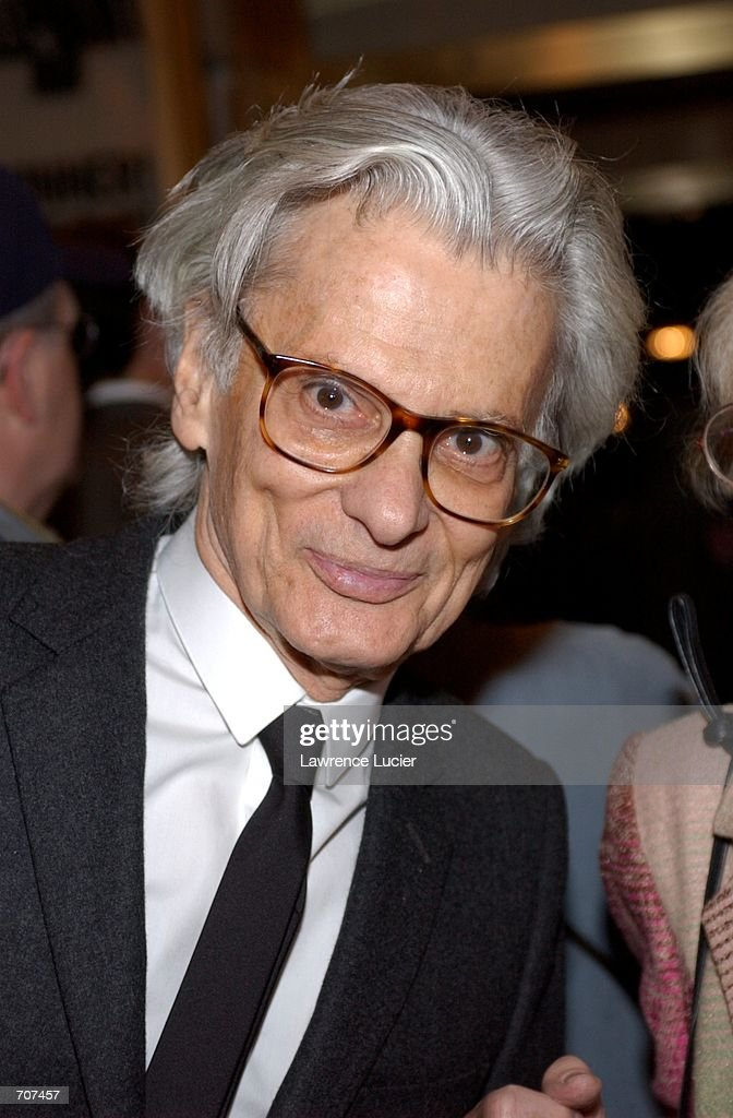 Photographer Richard Avedon arrives at the opening night of the play 'Elephant Man' April 14 2002 in New York City