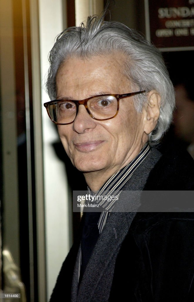 Photographer Richard Avedon arrives for the 'Kennedy Center Celebrates Sondheim' concert at Avery Fisher Hall October 21 2002 in New York City