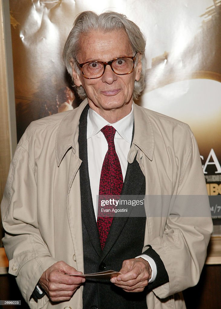 Photographer Richard Avedon attends the HBO FILMS Premiere of 'Angels In America' at The Ziegfeld Theater November 04 2003 in New York City