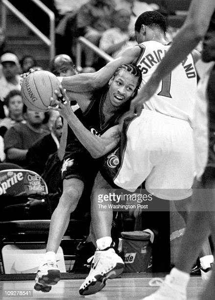 Robert A Reeder TWP MCI brief description Wizards host 76ers Wizards Rod Strickland ends up with Allen Iverson in a headlock while trying to defend...