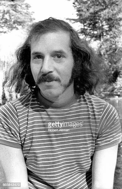 Photographer Robert Altman poses for a portrait in a striped tshirt on October 19 1969 at Golden Gate Park in San Francisco California