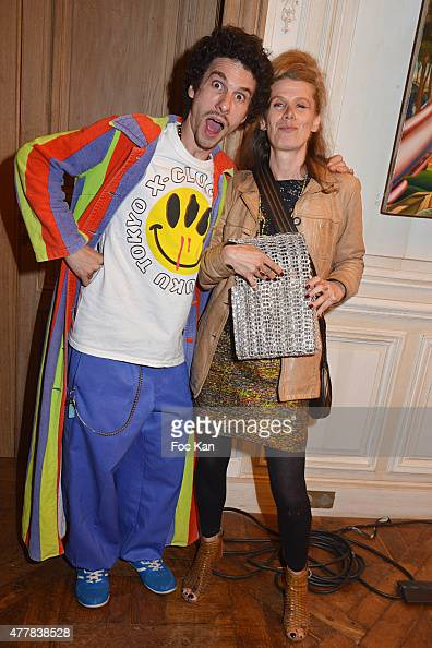 Photographer Ruddy Candillon and actress/screenwriter/Extaz film director Xanae Bove attend the 'Ex Taz Citizen Cash' Tribute to Rave Parties...