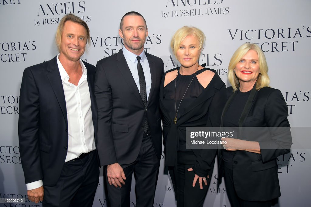 Photographer Russell James actor Hugh Jackman DeborraLee Furness and Victoria's Secret CEO Sharen Turney attend Russell James' 'Angels' book launch...