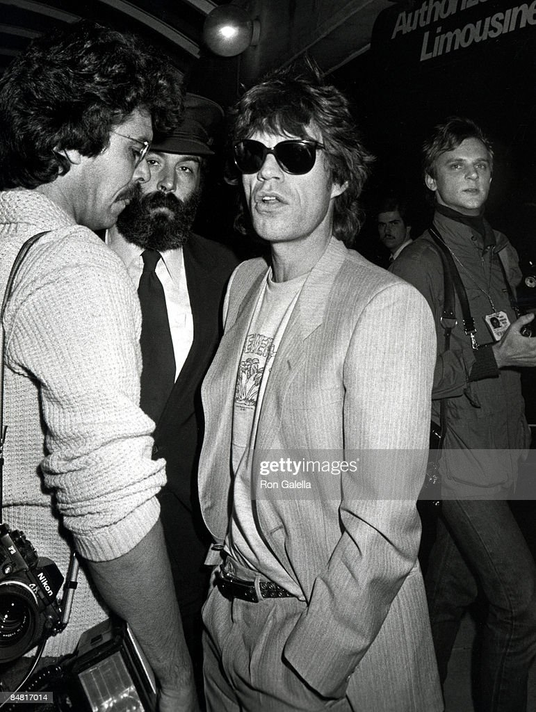 Photographer Russell Turiak, Mick Jagger and Photographer David McGough