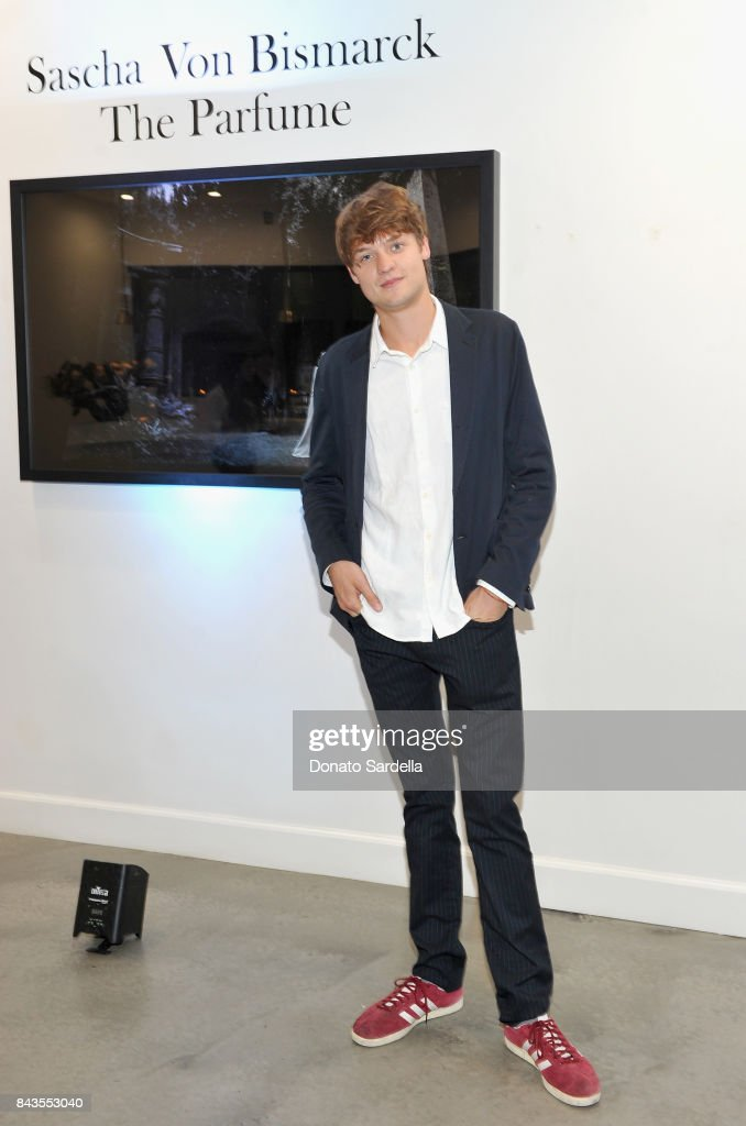 "Photographer Sascha von Bismarck and celebrity floral and fragrance designer Eric Buterbaugh attend the private opening of Sascha von Bismarck debut photography collection, ""PERFUME,"" at Eric Buterbaugh Gallery on September 6, 2017 in Los Angeles, California."