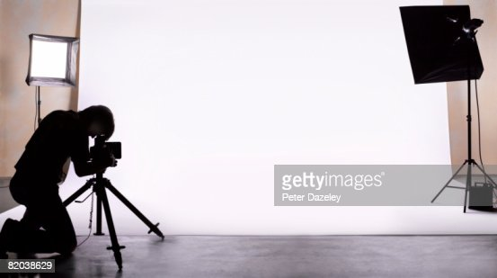 Photographer shooting in studio.
