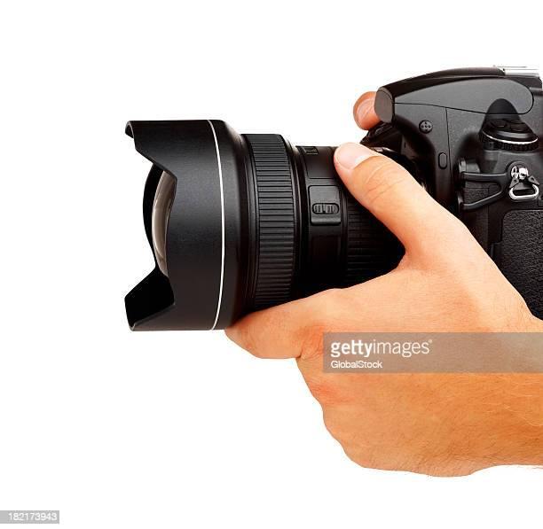 Photographer shooting - isolated