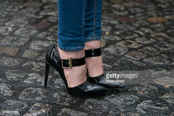 Photographer stylist and Fashion journalist Natalia Alaverdian on day 4 of Paris Collections Women on February 28 2014 in Paris France