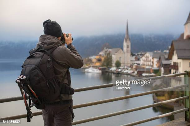 Photographer take picture of hallstatt