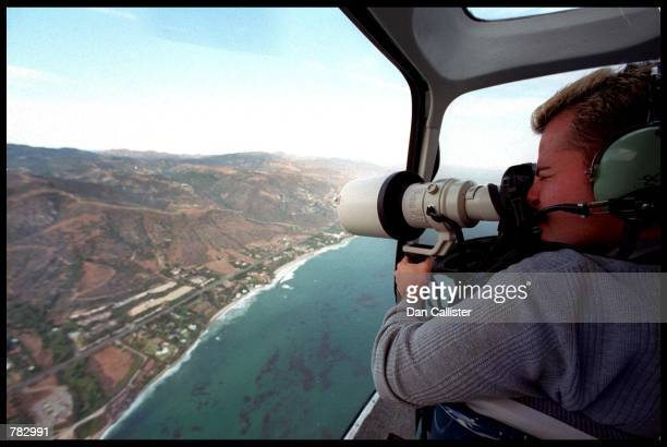 Photographer takes an Aerial view of Brad Pitt and Jennifer Aniston's wedding venue July 29 2000 in Malibu CA