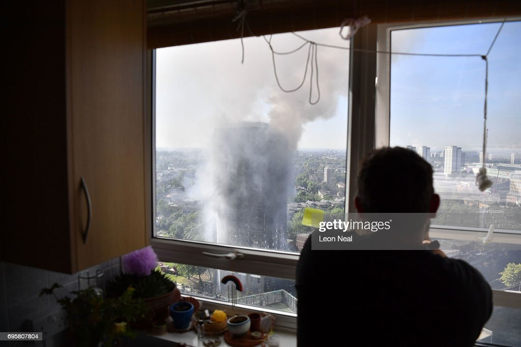 24-Storey Grenfell Tower Block On Fire In West London : News Photo