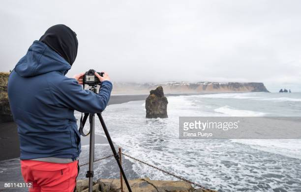 Photographer taking photos in Iceland