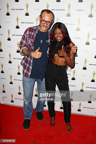 Photographer Terry Richardson and Azealia Banks attend the after party for the OHWOW HTC celebration of the release of 'TERRYWOOD' sponsored by GQ...